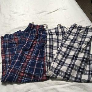 Two Cotton Pajama Bottoms